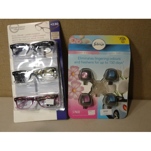 3032 - Febreze Car Air Freshner, Fgx Ladies Mix +2.50  (207-513,543) (207-513)  * This Lot Is Subject To Va...