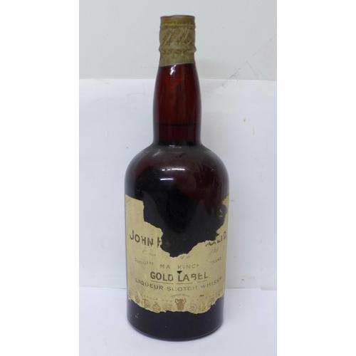 620 - One bottle, John Haig Gold Label Liqueur Scotch Whisky, label a/f...