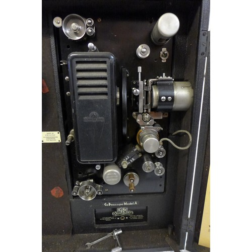 525 - A GB Equipment Gebescope Model 'A' projector and speaker *sold untested...