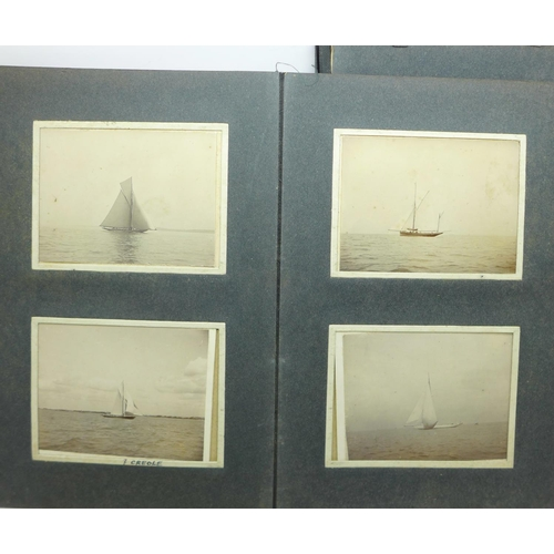 616 - A United Navigation Committee Grimsby certificate, a photograph album including yachting, a Cunard p...