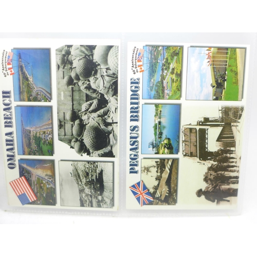 624 - Postcards; military postcard collection, many RPP's (40)...