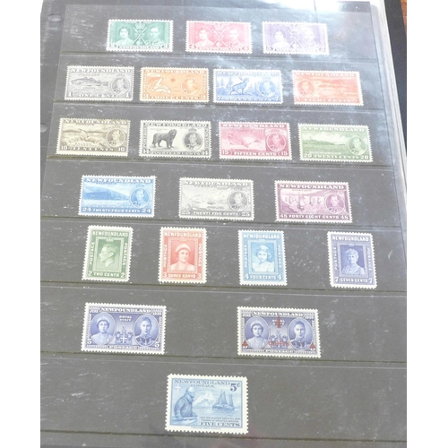 652 - Stamps; Newfoundland stamps, (mint and used), and postal history...
