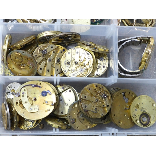 665 - Watch movements and parts...