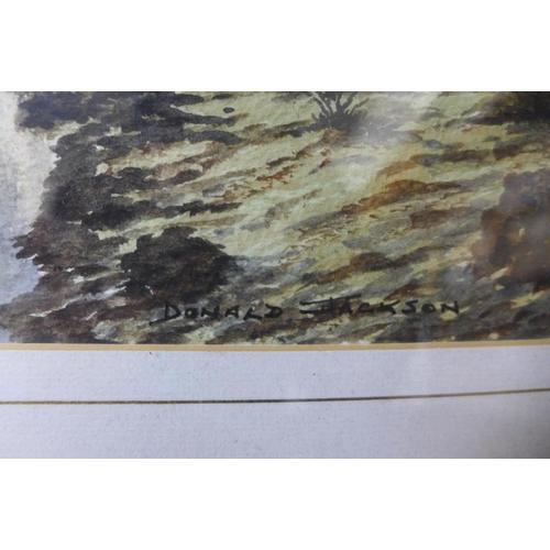 17 - Donald Jackson, Hazy Sun at Wheal Phoenix, watercolour, 16 x 23cms, framed...