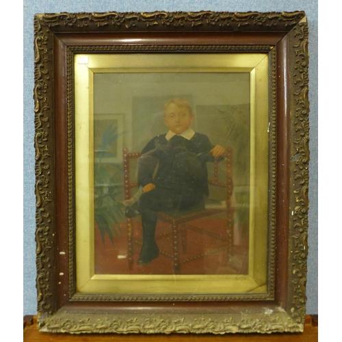 26 - English School, portrait of Henry Heath, Rolleston Church Warden, Burton-on-Trent, oil on canvas, 79...