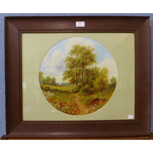 35 - Six assorted English School oil paintings (19th/early 20th Century), all framed...