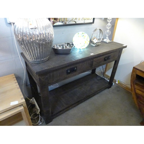 1404 - A rustic console table * this lot is subject to VAT...