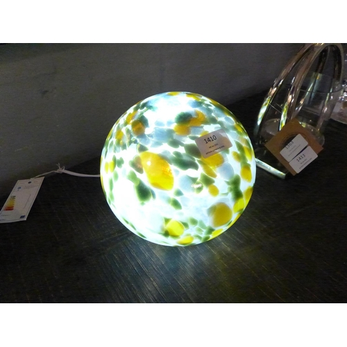 1410 - A hand blown glass planet lamp (GLD1335)  #...