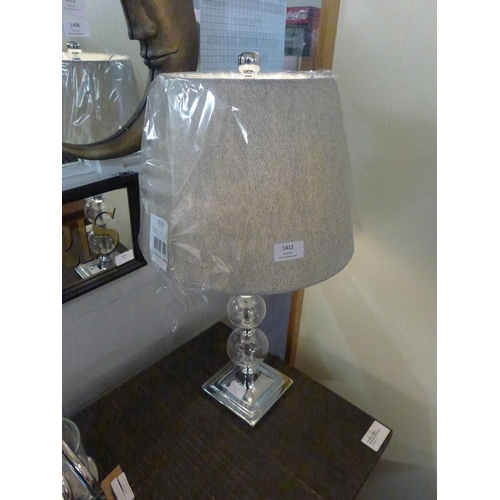 1412 - A Catalina glass table lamp with tweed shade (1832029)   #...