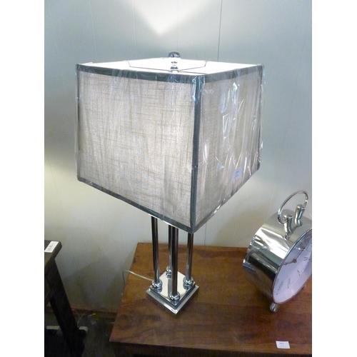 1414 - A Knightsbridge four column table lamp    #...