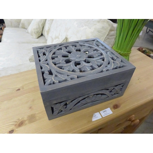1426 - A Lustro perforated grey wash box  (2060806)   #...