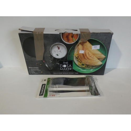 3005 - The Dosa Maker & Tramontina Knife Pack           (208-19) * This Lot Is Subject To Vat...