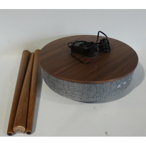3006 - Multi Media Table With Wireless 360° Audio and Wireless Charging    (208-20) * This Lot Is Subject T...
