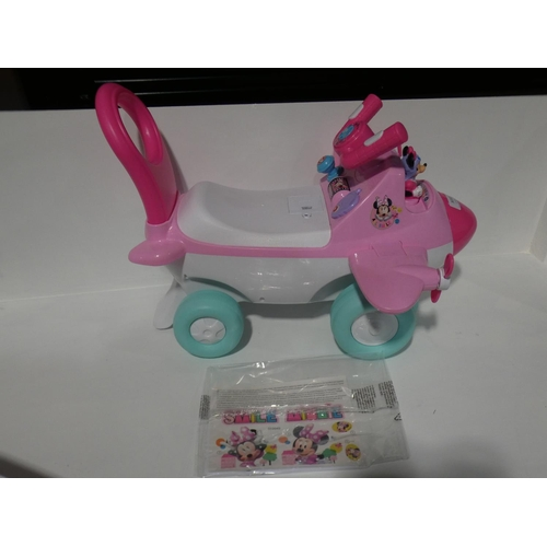 3010 - Disney Minnie Mouse Ride On Toy Activity Plane    (208-44) * This Lot Is Subject To Vat...