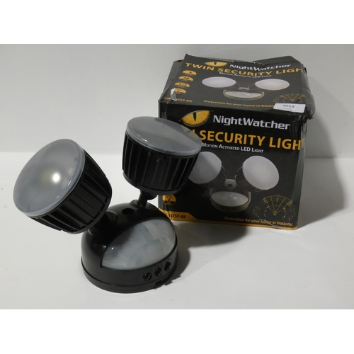 3014 - Nightwatcher LED Twin Security Light 8 (208-7) * This Lot Is Subject To Vat...