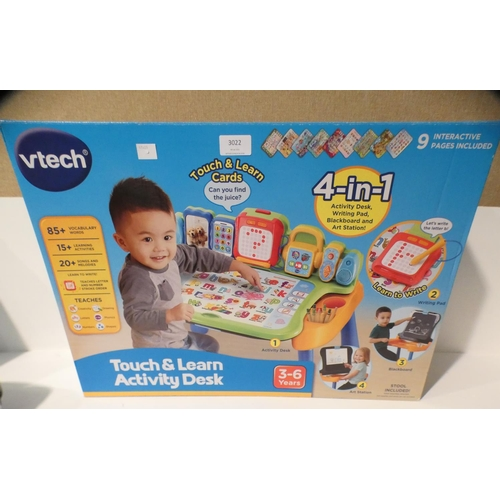 3022 - Vtech Activity Desk and Mighty Motorised Police Car     (208-105, 131) * This Lot Is Subject To Vat...