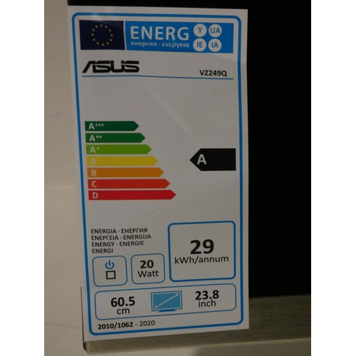 3035 - Asus 23.8  Fhd Monitor with box (model no. VZ249Q)   (208-75) * This Lot Is Subject To Vat...
