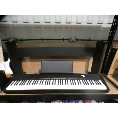 3036 - Casio Cdp-130Bk Digital Piano with stand, foot pedal and lead  (208-221) * This Lot Is Subject To Va...