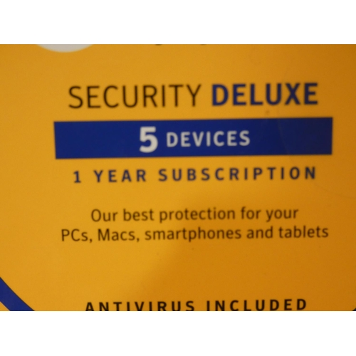 3047 - Norton Internet Security Deluxe (5 Devices/1 Yr subscription) (208-6) * This Lot Is Subject To Vat...