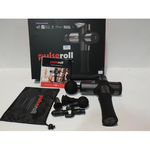 3050 - Pulseroll Massage Gun with attachments  (208-107) * This Lot Is Subject To Vat...