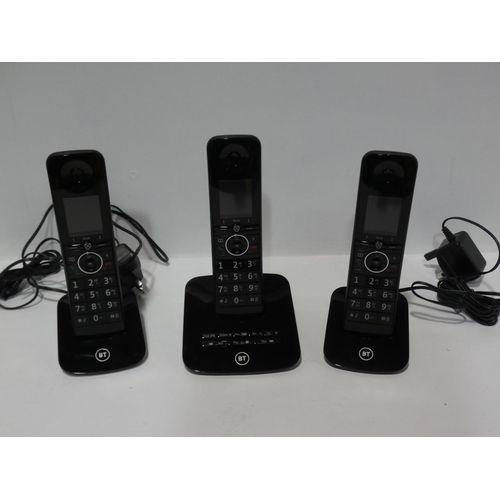 3055 - A BT three Dect phone system * This lot is subject to VAT...