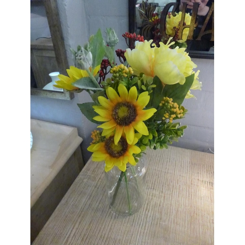 1312 - Sunflowers and peony in a funnel glass vase (50517709)  #...