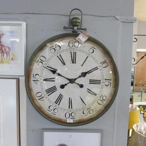 1329 - A circular pocket watch wall clock (1180325)   #...