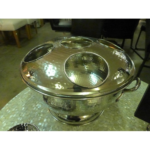 1350 - A hammered nickel five bottle champagne cooler (1516140)   #