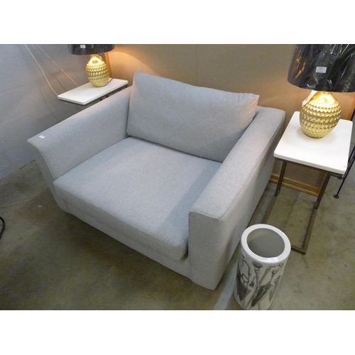 1356 - A grey upholstered love seat