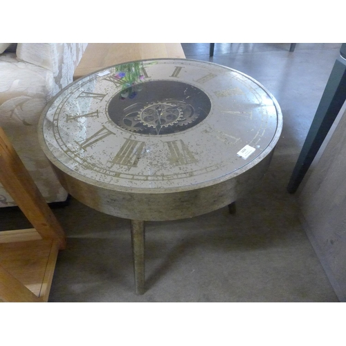 1424 - A circular mirrored moving gears clock table (186869)   #...