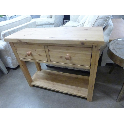 1425 - A pine console table * this lot is subject to VAT...