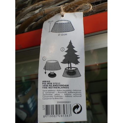 3002 - Three Kubu wicker style tree base covers * this lot is subject to VAT...