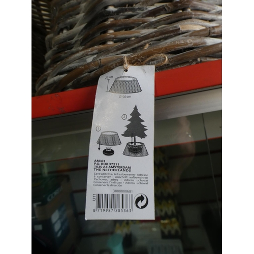 3003 - Two Kubu wicker style tree base covers (mixed sizes) * this lot is subject to VAT...