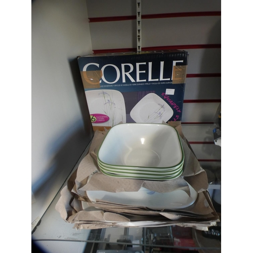 3006 - Corelle durable glass dinnerware * this lot is subject to VAT