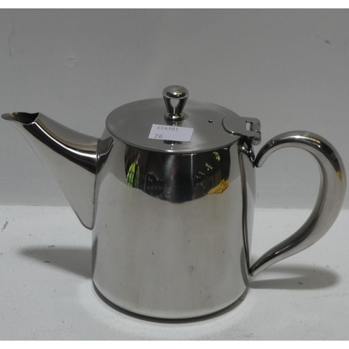 3026 - A Sabachi 720ml stainless steel teapot * this lot is subject to VAT...