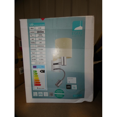 3038 - An Eglo 380 lumens wall light * this lot is subject to VAT...
