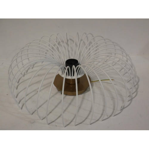 3052 - Two mixed style ceiling lights * this lot is subject to VAT...
