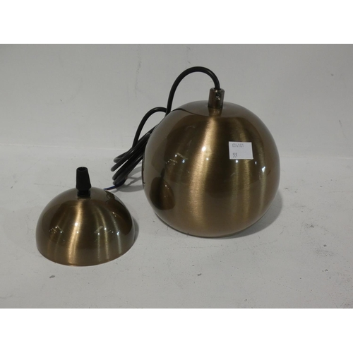 3059 - Two gilt effect pendant lights (mixed styles) * this lot is subject to VAT...