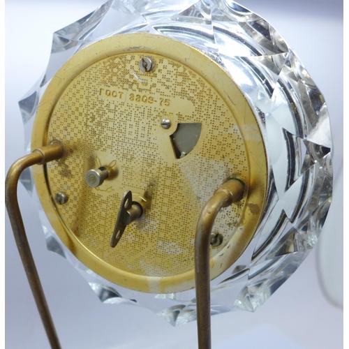605 - A Majak clock, made in USSR, 29.5cm...