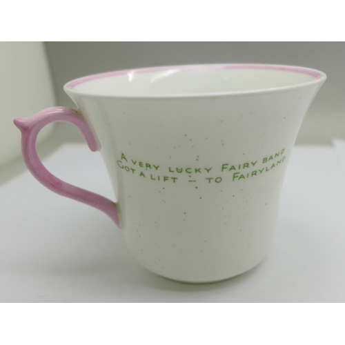 615 - A Shelley Mabel Lucie Attwell cup and saucer...
