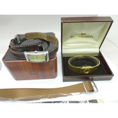 633 - Fashion wristwatches and wristwatch straps...
