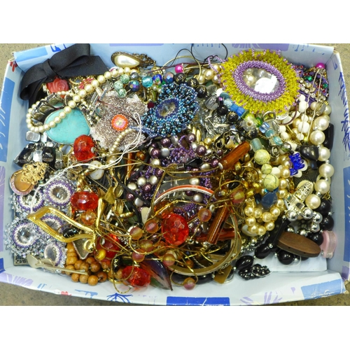 644 - A collection of costume jewellery...
