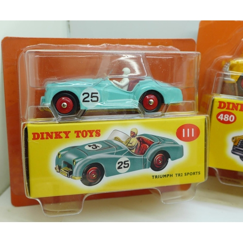 648 - Twelve 'Dinky Toys' model vehicles by Norev, distributed by DeAgostini, boxed and sealed, (one bubbl...