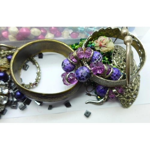 654 - A collection of fashion jewellery...
