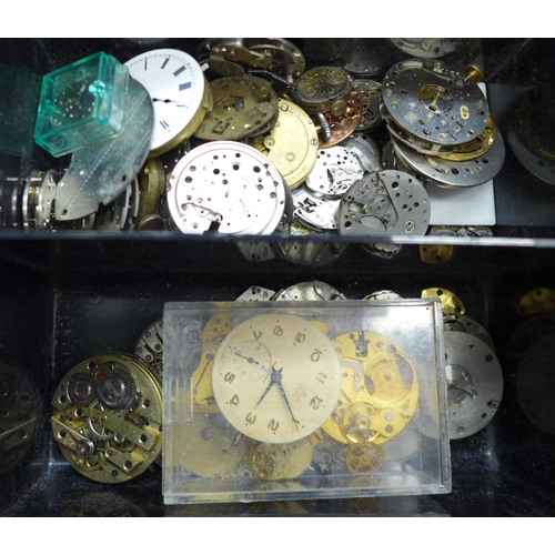 657 - A collection of watch parts...