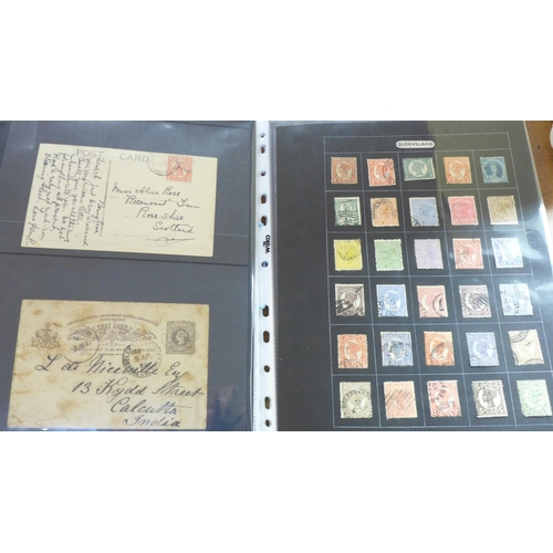 658 - Stamps; Australian States stamps and postal history...