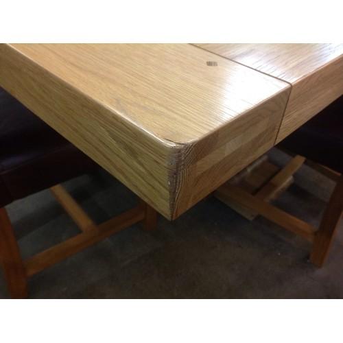 1696 - An oak monastery dining table - bruised corner...