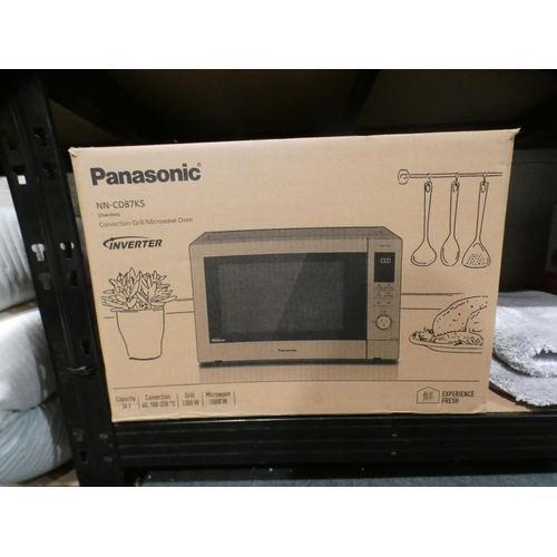3008 - Panasonic Combi Microwave (Model No.:- NN-CD87KS), Rrp £229.99 + Vat (215-272) * This lot is subject...