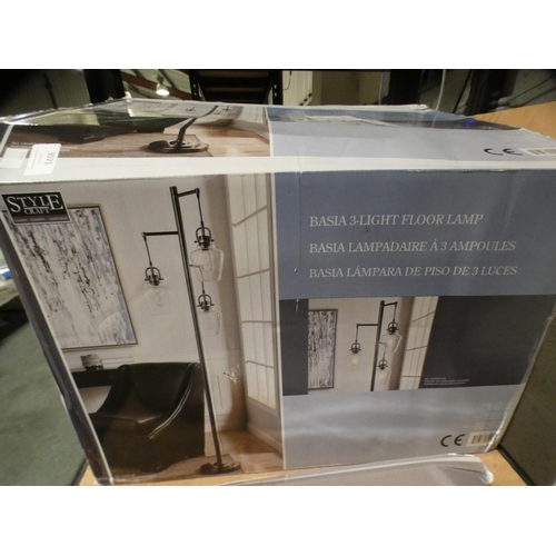 3021 - Basia 3 Light Floor Lamp  (215-553) * This lot is subject to VAT...