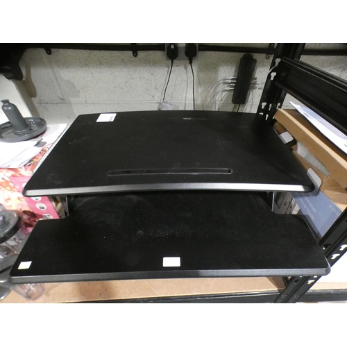3022 - Seville Airlift Sit To Stand Desk Riser (215-554) * This lot is subject to VAT...